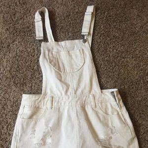 Francesca's White Overalls